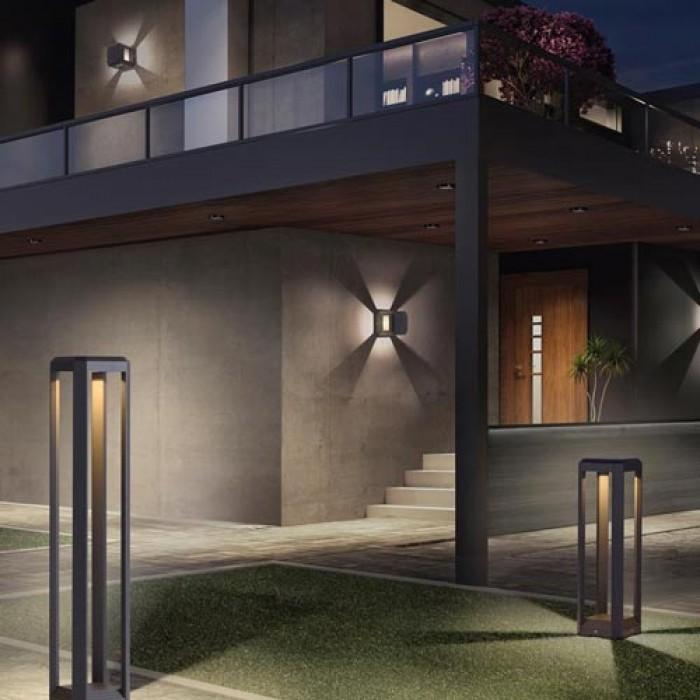 Lauko šviestuvas 'Logone V2', 80 cm aukščio, LED, pastatomas
